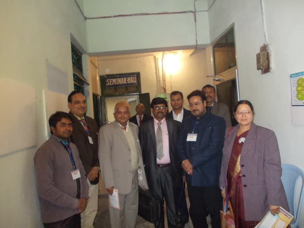 With Dr. B. K. P. Singh (B.R.A. Bihar University), Dr. Gopal Sharma (ZSI, GPRC PATNA) and others.