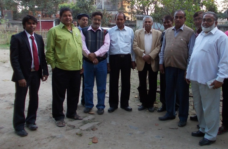 Dr. Niraj Kumar with Dr. J. Mahto, Dr. S. Ahmad, Dr. U. Kunwar, Dr. Dilip Kumar, Dr. B.R. Singh & Dr. M. J. Siddiqui.