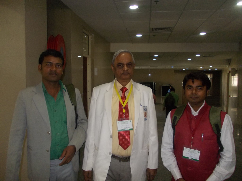 With Dr. B. N. Pandey (President of ZSI) and Dr. Amit Kumar Prabhakar.