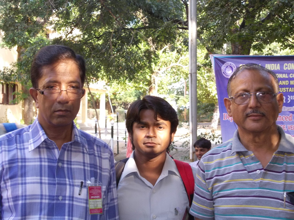 With Late Prof. N. Alam and Pfor. B. D. Joshi.